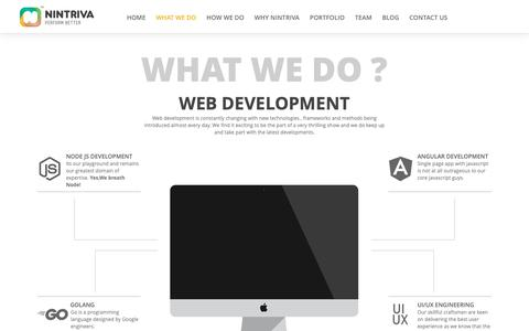 Screenshot of Home Page nintriva.com - Nintriva-Enterprise Web, Mobile & Analytics - captured Dec. 10, 2018