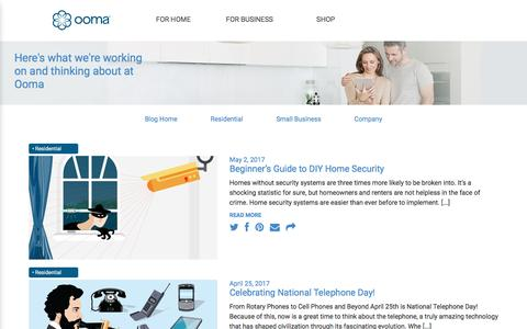 Screenshot of Blog ooma.com - Meet the Ooma Blog - captured May 9, 2017