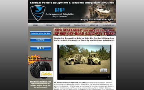 Screenshot of Home Page rpadvancedmobilesystems.com - RP Advanced Mobile Systems: SxS Vehicle Upfit Systems - captured Sept. 30, 2014