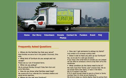 Screenshot of FAQ Page nlfurniture.org - FQA - captured Feb. 14, 2016