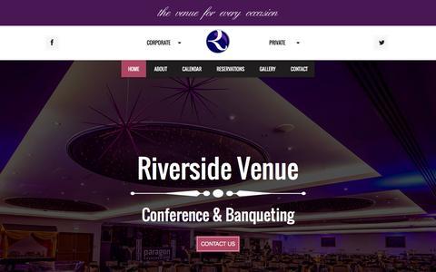 Screenshot of Home Page riverside-venue.co.uk - Riverside Venue | Conference & Banquetting - captured Jan. 11, 2016
