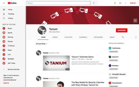 Tanium - YouTube