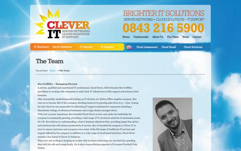 Screenshot of Team Page clever-it.com - The Team - Computer Services Bolton | IT Support Bolton | IT Services Bolton - captured Oct. 2, 2014
