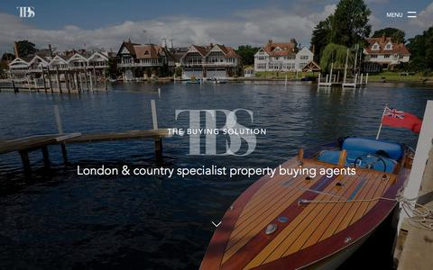 Screenshot of Home Page thebuyingsolution.co.uk - Home - London & Country Specialist Property Buying Agents - The Buying Solution - captured Feb. 28, 2016