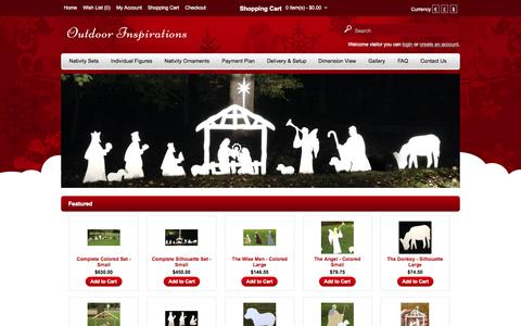 Screenshot of Home Page outdoor-inspirations.com - Outdoor Inspirations - captured June 19, 2015