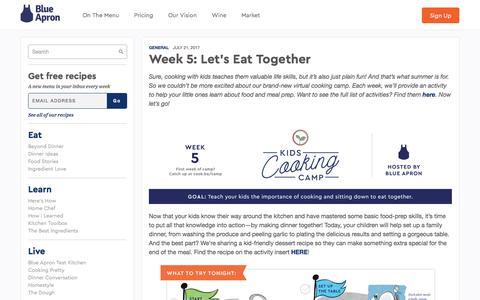 Screenshot of blueapron.com - Week 5: Let's Eat Together | Blue Apron Blog - captured July 25, 2017