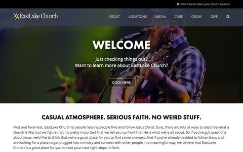 Screenshot of Home Page eastlakechurch.com - EastLake Church - captured July 10, 2016