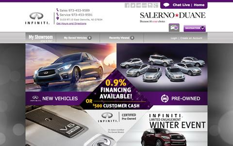 Screenshot of Home Page infinitiofdenville.com - New & Used Infiniti Dealers NJ   Salerno Duane Infiniti: Denville - captured Jan. 23, 2015