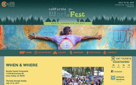Screenshot of FAQ Page Maps & Directions Page worldfest.net - GATHER 2017 - worldfest.net - captured Jan. 25, 2017