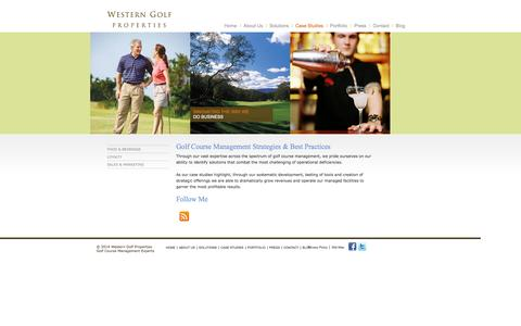 Screenshot of Case Studies Page wgolfp.com - Golf Course Management Case Study | Western Golf Properties - captured Nov. 5, 2014