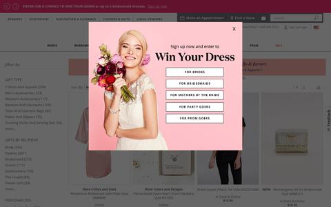 Wedding Gifts for the Bride, Groom, Bridesmaids & Guests | David's Bridal