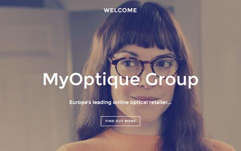 Screenshot of Home Page myoptiquegroup.com - MyOptique Group - captured Aug. 11, 2015