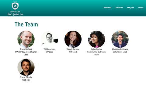 Screenshot of Team Page appsecusa.org - OWASP AppSec USA 2018 - Team - captured Oct. 26, 2018
