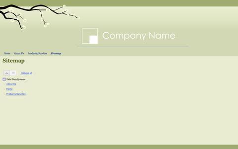 Screenshot of Site Map Page fieldds.com - Sitemap - Field Data Systems - captured Nov. 25, 2016