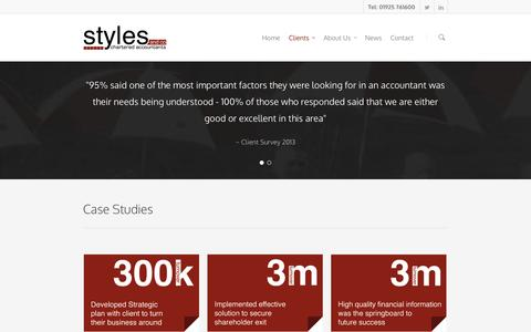 Screenshot of Case Studies Page stylesandco.co.uk - Case Studies | Styles and Co - captured Oct. 9, 2014