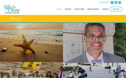 Screenshot of About Page vitanovainc.org - About - Vita Nova - captured Oct. 20, 2018