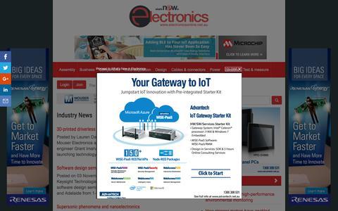 Screenshot of Press Page electroline.com.au - Industry News :: ElectronicsOnline - captured Nov. 4, 2016