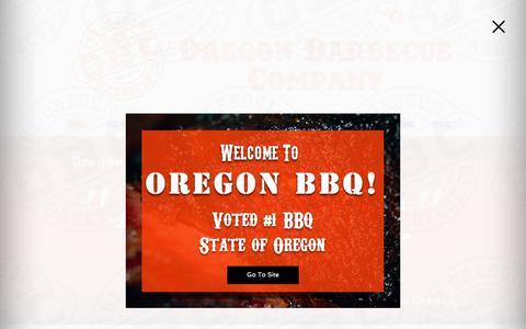 Screenshot of Home Page bbqoregon.com - Oregon BBQ Company Voted #1 BBQ in Oregon - captured Oct. 18, 2018