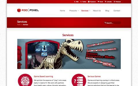 Screenshot of Services Page r3dpixel.com - Services « R3D Pixel R3D Pixel - captured Oct. 26, 2014