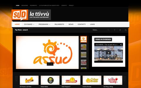 Screenshot of Home Page sud656.tv - SUD TV - Canale 656 DT - SUD TV - Canale 656 DT - captured Sept. 7, 2015