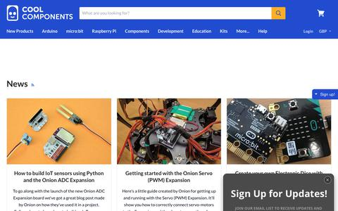 Screenshot of Press Page coolcomponents.co.uk - News — Cool Components - captured July 21, 2018
