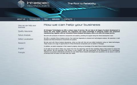 Screenshot of Services Page intraspectechnologies.com - How we can help your business – Intraspec Technologies - captured Nov. 26, 2016