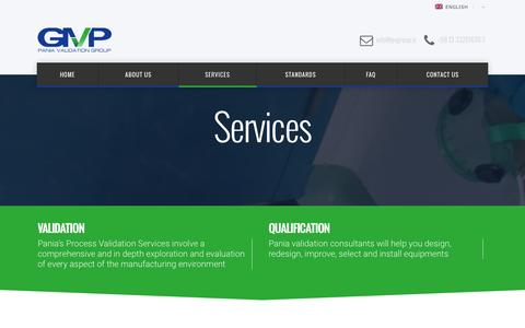 Screenshot of Services Page pvgroup.ir - Services | Pania Validation Group - captured Jan. 24, 2016
