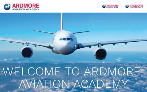Screenshot of Home Page ardmore.co.nz - Ardmore Flying School   Welcome NZ & International Students - captured Oct. 4, 2018