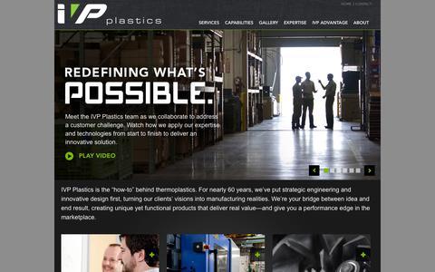 Screenshot of Home Page ivpplastics.com - IVP - captured Sept. 30, 2014