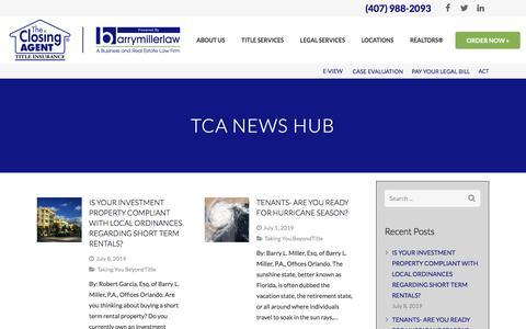 Screenshot of Blog theclosingagent.com - OUR BLOG   THE CLOSING AGENT   BARRY MILLER LAW - captured Aug. 21, 2019
