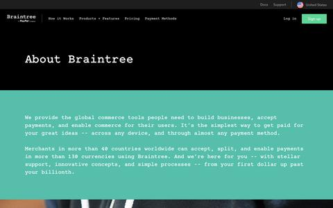 Screenshot of About Page braintreepayments.com - About Braintree | Braintree Payments - captured Oct. 6, 2016