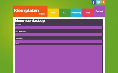 Screenshot of Contact Page kleurplatenenzo.nl - kleurplaten en zo » Contact - captured Nov. 4, 2014
