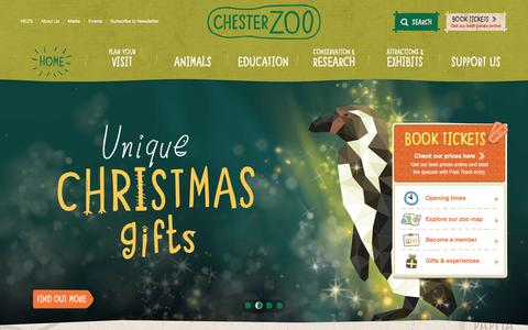 Screenshot of Home Page chesterzoo.org - Islands at Chester Zoo | Extraordinary discoveries, every day - captured Dec. 4, 2015