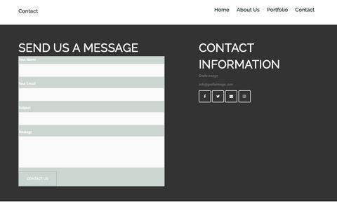Screenshot of Contact Page grafiximage.com - Contact - captured Nov. 2, 2018