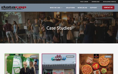Screenshot of Case Studies Page datacapsystems.com - Case Studies - Datacap Systems, Inc. - captured Dec. 9, 2019