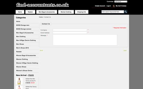 Screenshot of Contact Page find-accountants.co.uk - Contact Us :  Cheap Men Bags & Accessories and Women Clothing, Women's Shoes Online and more on sale! - captured June 6, 2017