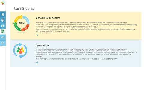 Screenshot of Case Studies Page kanakaconsulting.in - Kanaka - Outsourced Product Development - captured Sept. 30, 2014