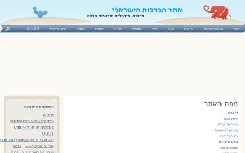Screenshot of Site Map Page brachot.net - מפת האתר - אתר הברכות הישראלי - captured Sept. 30, 2018
