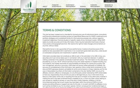 Screenshot of Terms Page greenwoodresources.com - Terms & Conditions  |  GreenWood Resources - captured Nov. 2, 2014