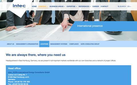 Screenshot of Locations Page gopa-intec.de - Locations | Gopa Intec - captured Oct. 13, 2018