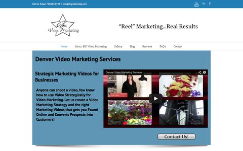 Screenshot of Home Page bigvideomktg.com - Home - BIG Video Marketing - captured Oct. 4, 2014