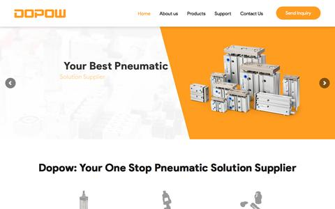Screenshot of Home Page dopow.com - One Stop Pneumatic Solution Supplier in China -Dopow - captured Dec. 4, 2019