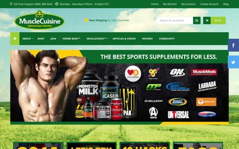 Screenshot of Home Page musclecuisine.com - Muscle Cuisine™ Optimized Sports Nutrition • Muscle Cuisine™ - captured Jan. 26, 2015