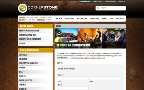 Screenshot of Signup Page cornerstoneonline.com - Sign Up - Cornerstoneonline - captured Oct. 30, 2014