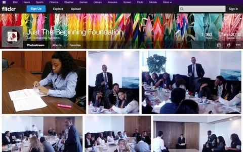 Screenshot of Flickr Page flickr.com - Flickr: Just The Beginning Foundation's Photostream - captured Oct. 23, 2014