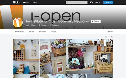 Screenshot of Flickr Page flickr.com - The Institute for Open Economic Networks | Flickr - Photo Sharing! - captured Nov. 18, 2015