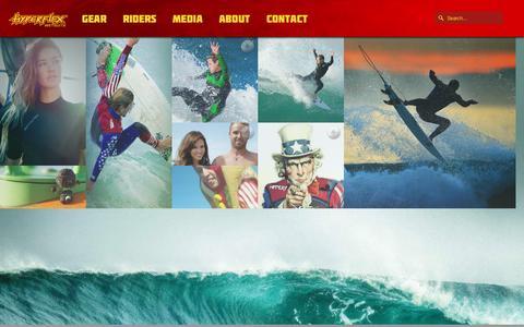 Screenshot of Press Page hyperflexusa.com - Media - Hyperflex Wetsuits - captured Feb. 2, 2016