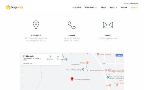 Screenshot of Contact Page busybusy.com - Contact busybusy™ Construction Job Site Tracking Software | busybusy™ - captured Aug. 22, 2019