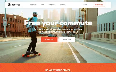 Screenshot of Home Page boostedboards.com - Boosted boards | World's lightest electric vehicle - captured Jan. 21, 2017