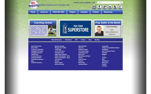 Screenshot of Login Page prepgolfamerica.com - Login - Prep Golf America Prep Golf America - captured May 21, 2017
